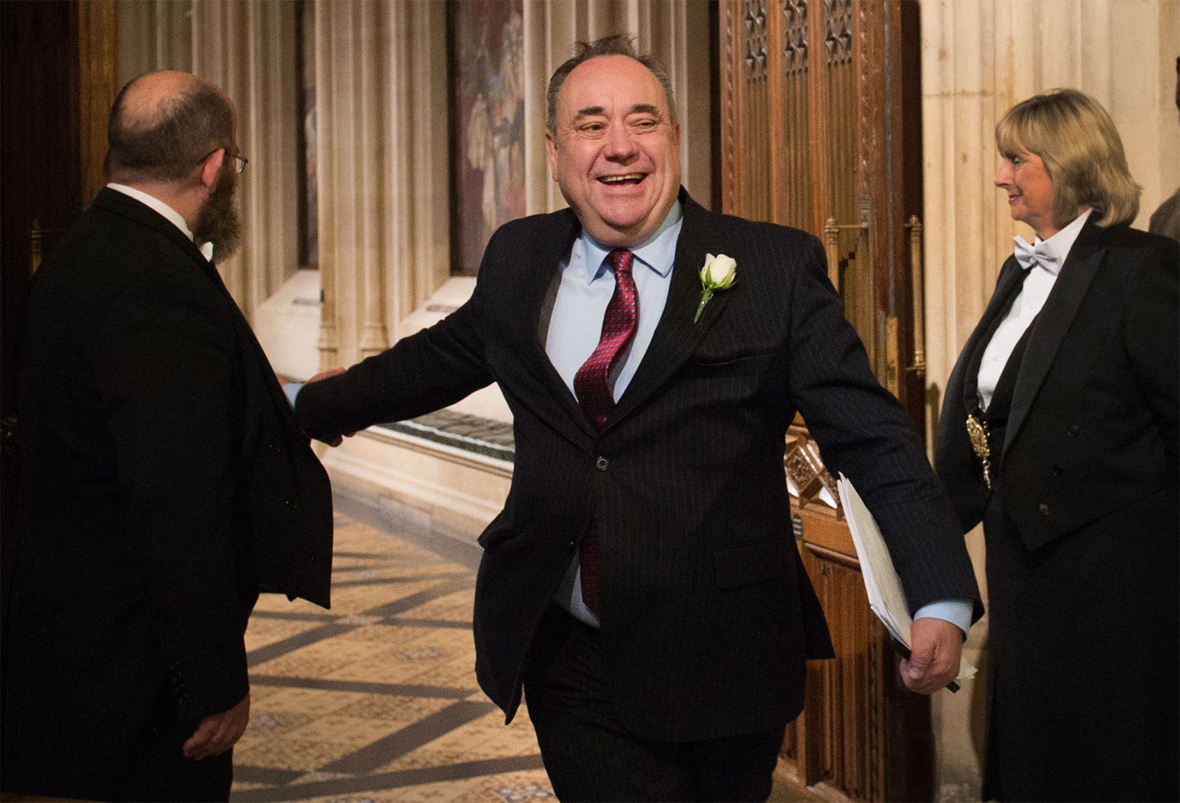 Alex Salmond arrives for the State Opening of Parliament, May 27th, 2015