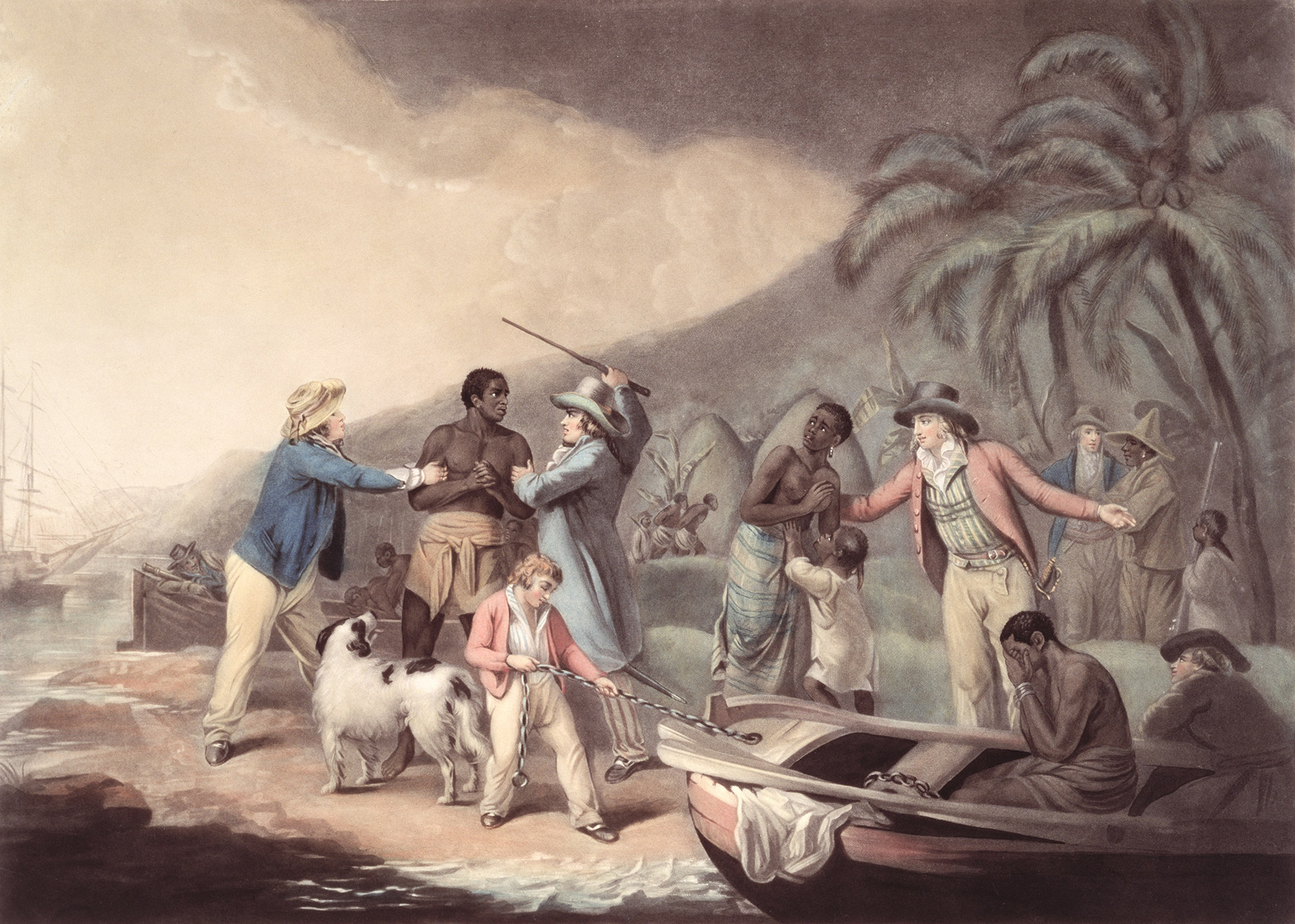 The Slave Trade, an engraving by J.R. Smith, late 18th century.