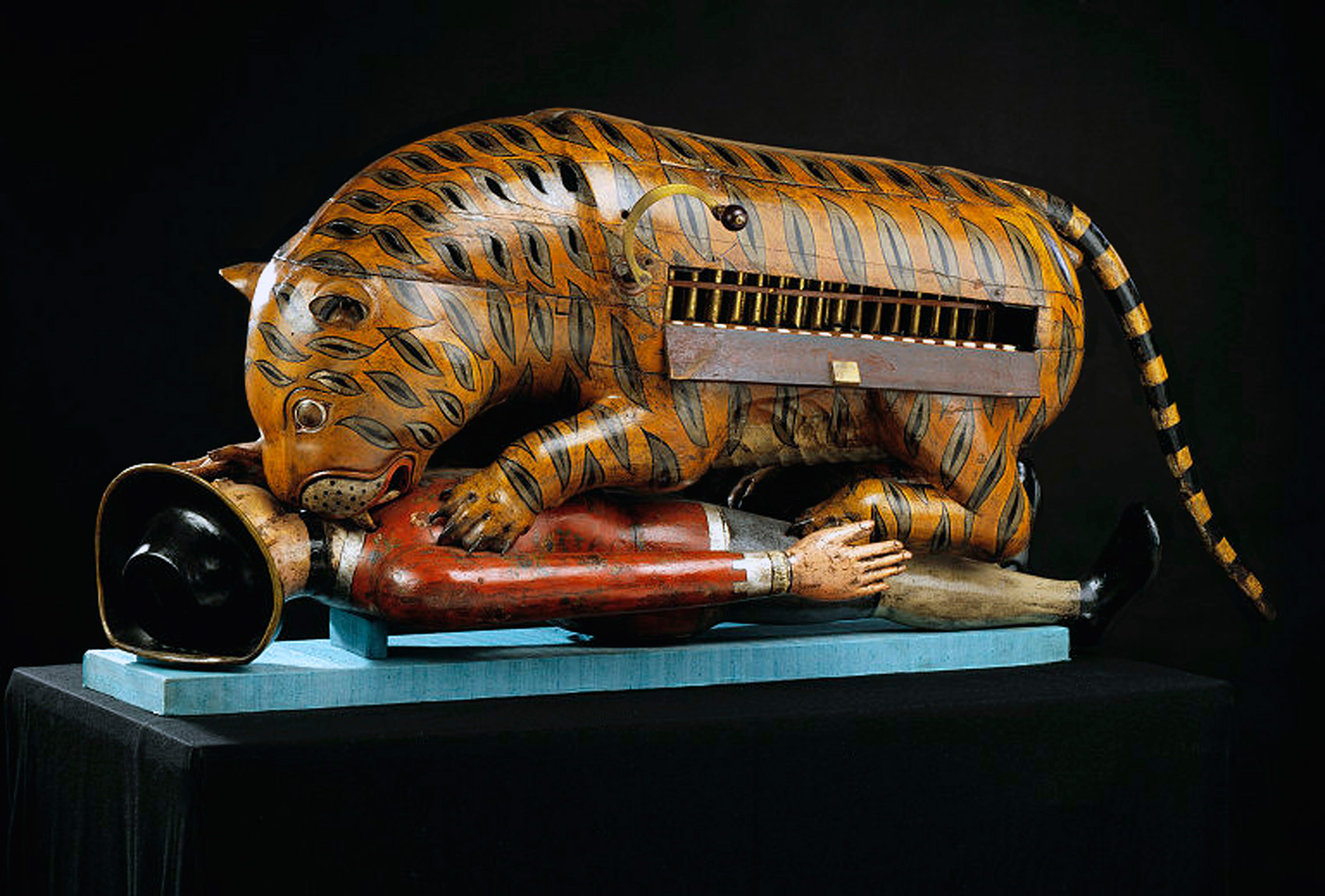 Tipu's Tiger, an automaton representing a tiger mauling a British soldier, c.1790
