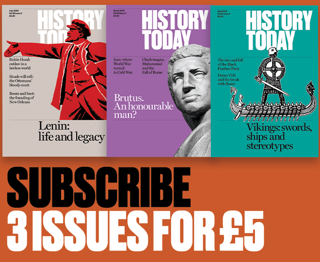 History Today magazine subscription offer: 3 issues for £5