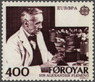 Faroe Islands stamp commemorating Fleming, from 1983