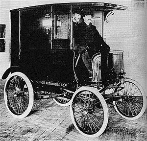 The company's first product was a delivery truck, completed in January 1900.