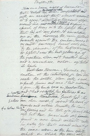 Manuscript page from 'Frankenstein'