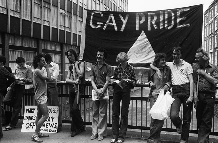 Members of the Gay Liberation Movement, London, July 4th, 1977