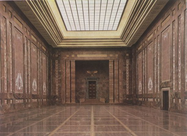 The Mosaic Hall of the new Reich Chancellery, 1939. AKG Images.