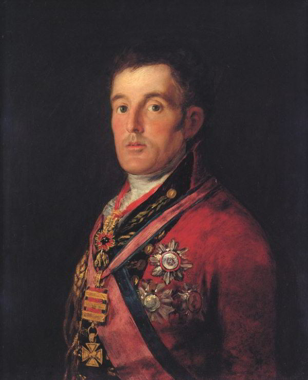 Portrait of the Duke of Wellington 1812-14 by Goya (National Gallery, London).
