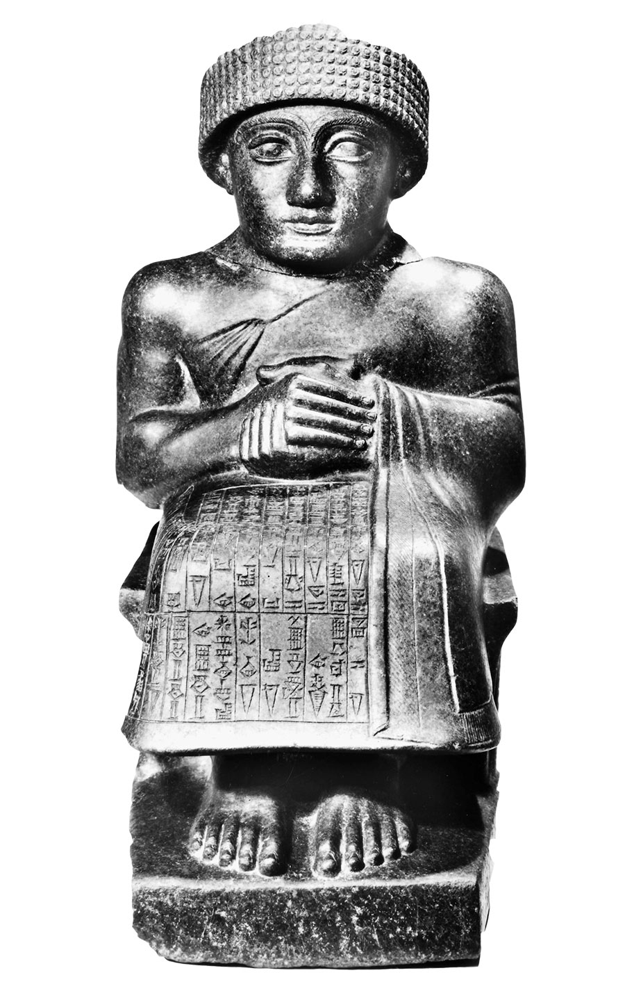 Statuette of Gudea, from the temple of Ningizzida in Girsu, c.2150 BC.