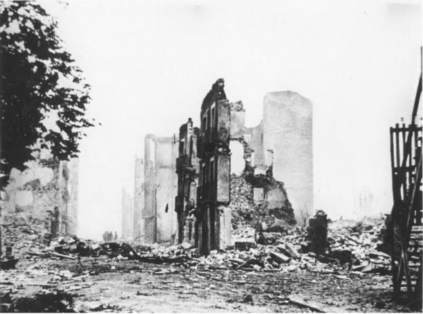 The ruins of Guernica, 1937