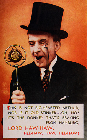 His master's voice: Joyce satirised on a British postcard of 1942