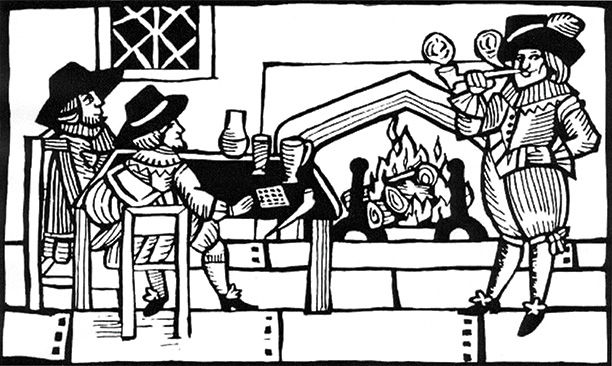 Around the hearth: gentleman householders in a woodcut of the 1660s