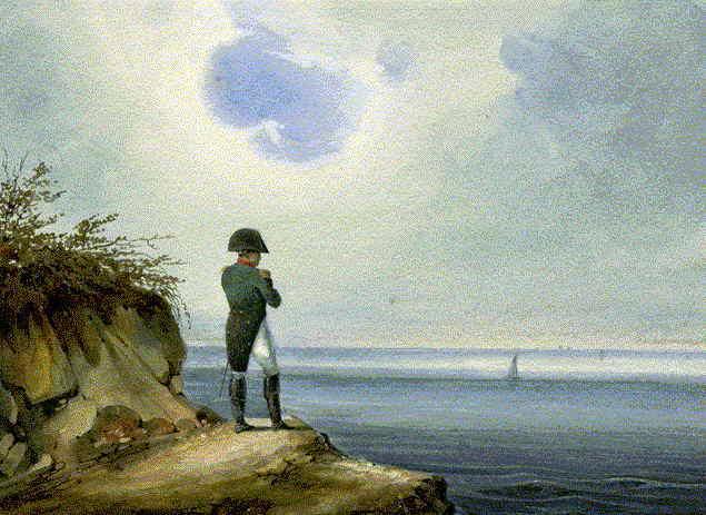 Napoleon at Saint-Helene, by Francois-Joseph Sandmann