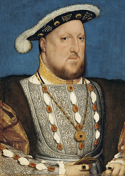 Henry VIII portrayed in the style of Hans Holbein the Younger in 1536, the king's annus horribilus