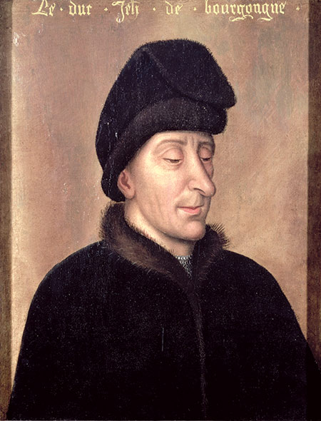 John the Fearless, Duke of Burgundy, by anonymous Flemish artist, 15th century.