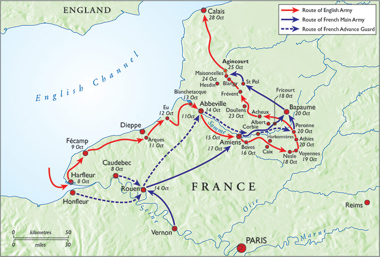 Henry's Agincourt campaign.