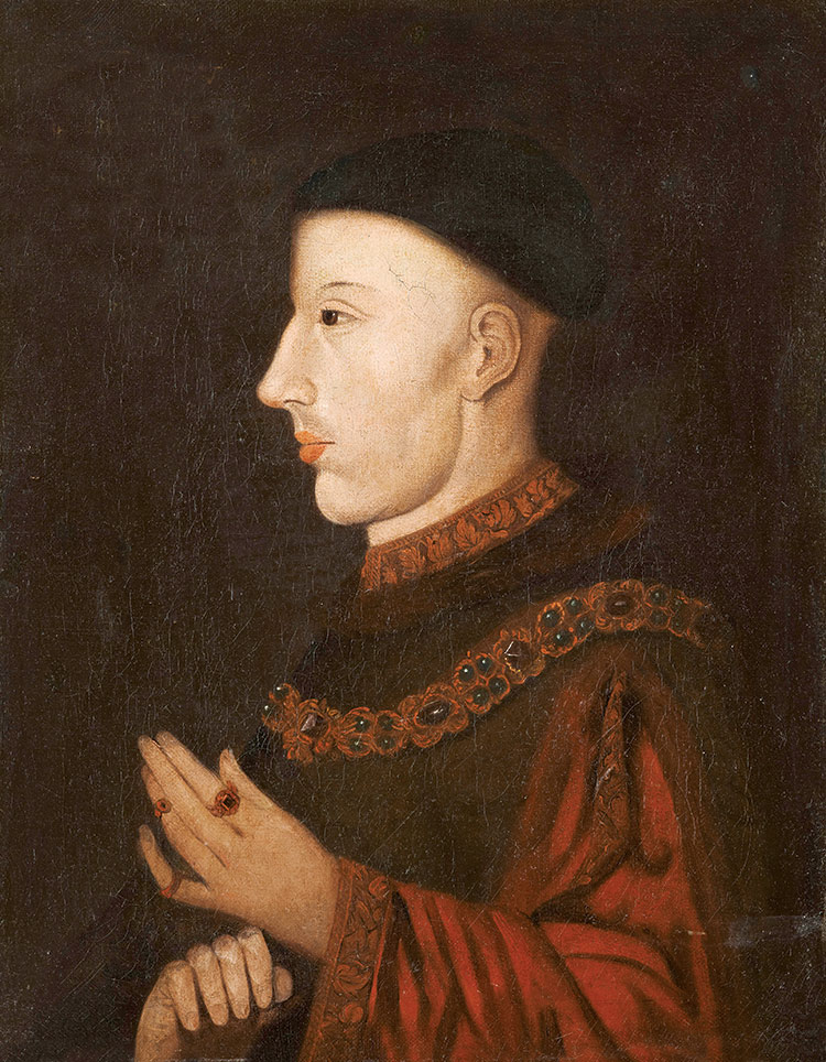 Contemporary portrait of Henry V