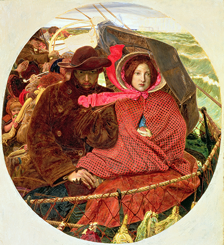 Troubled waters: The last of England, by Ford Madox Brown, 1860. Ⓒ Fitzwilliam Museum, Cambridge/Bridgeman Images