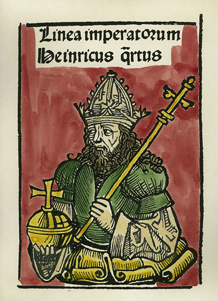 Woodcut of Henry IV from the Nuremberg Chronicle, 1493. Copyright aka-images