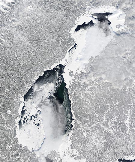 The Gulf of Bothnia,  5 March 2010. NASA image courtesy MODIS Rapid Response Team at NASA GSFC.