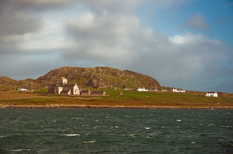 Iona Abbey from the ferry, by Phillip Capper.