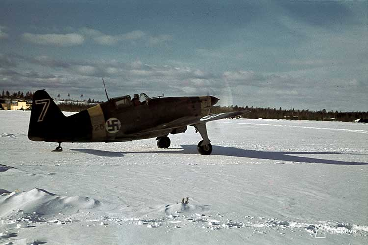 Nazi airplane in Viitana, Russia, 17 March 1942. Courtesy Sa-kuva.
