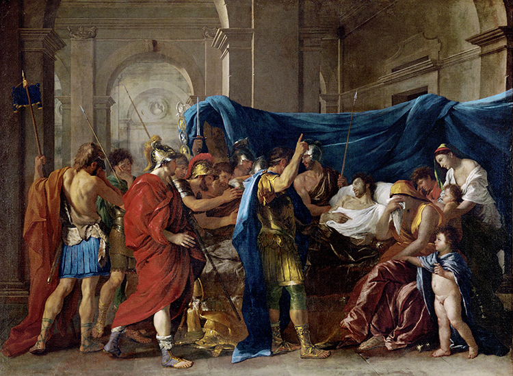 A new Alexander: The Death of Germanicus, by Nicolas Poussin, 1626/38. ©  akg-images