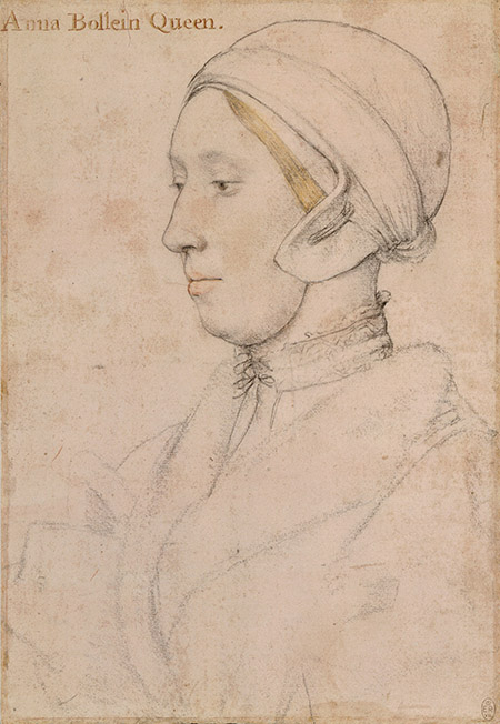 Fallen from grace: Anne  Boleyn, by Hans Holbein the Younger, c.1533-36.  Royal Collection Trust © Her Majesty Queen Elizabeth II, 2017/Bridgeman Images