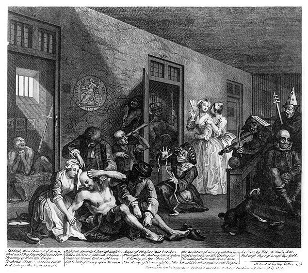 William Hogarth's A Rake's Progress (Plate VIII), 1762