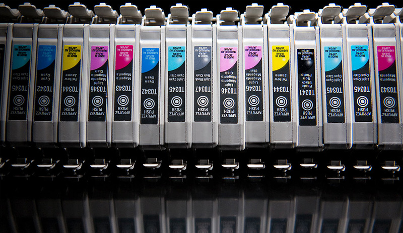Inkjet cartridges, by Kenny Louie (2009).