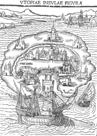 Illustration for the 1516 first edition of Utopia.