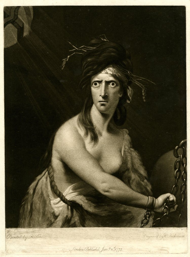 Print made by William Dickinson after Robert Edge Pine (1775)
