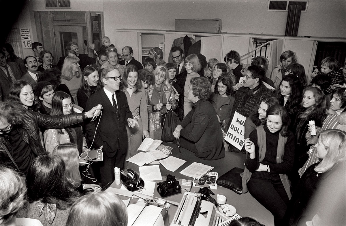 Speaking truth to power:  Dolle Mina in Margriet's offices,  20 February 1970.
