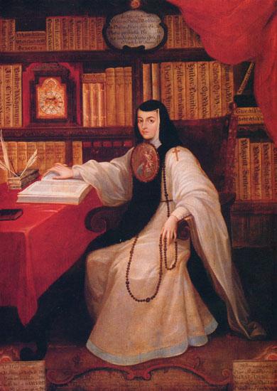 Portrait of Sor Juana by Miguel Cabrera (1695-1768), c.1750.