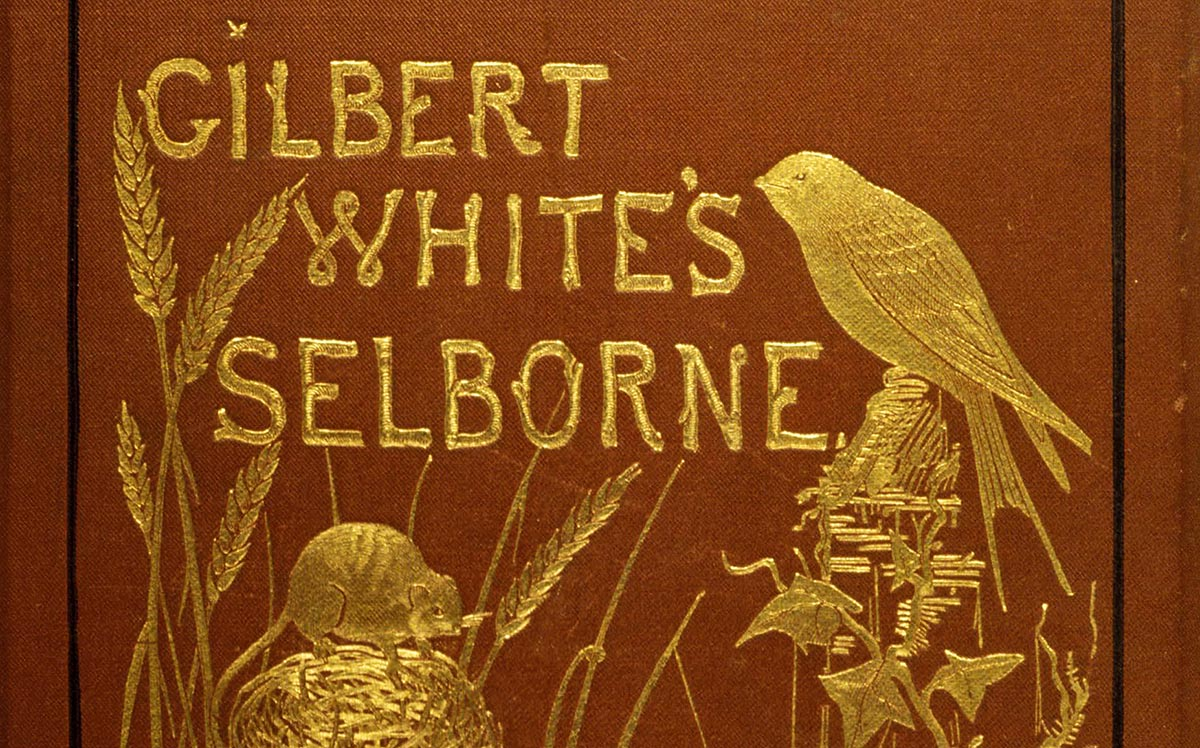 Detail from the cover of Gilbert White's Selborne, early 20th century