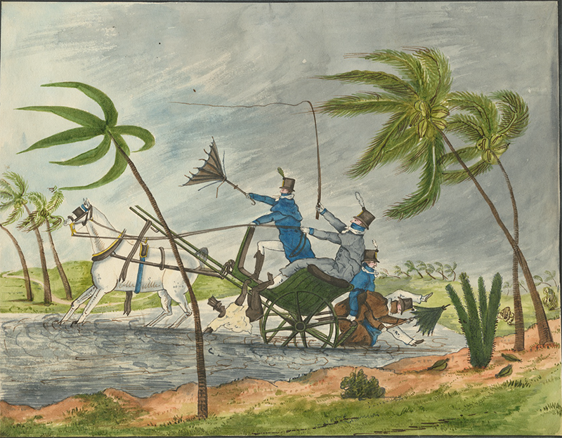 'Overtaken in a Hurricane in Jamaica, 1812', by Catherine Street (Brown University Library/World Digital Library).
