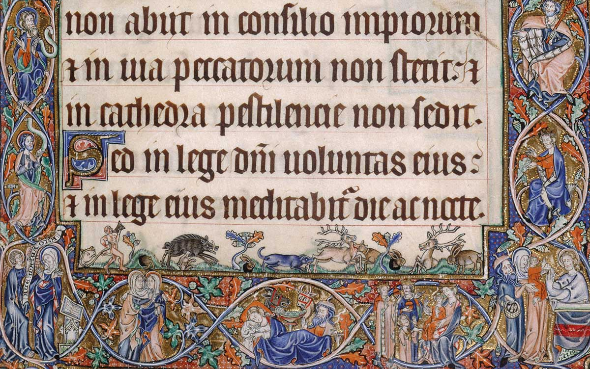 The Gorleston Psalter (detail), 1310-25 © British Library Board/Bridgeman Images.