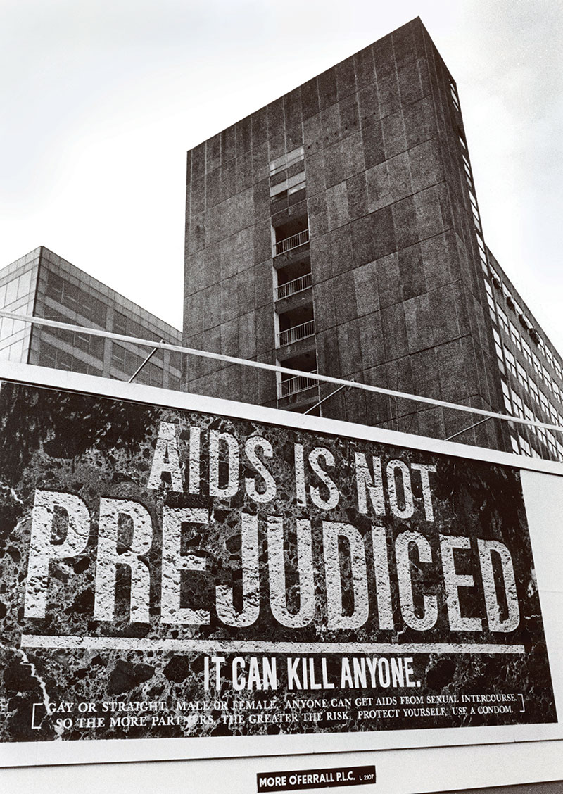 Stark warning: AIDS poster, UK, c.1980s.