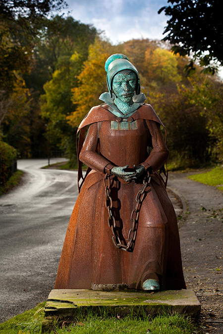Eerie: the metal sculpture of Alice Nutter in Roughlee, Lancashire
