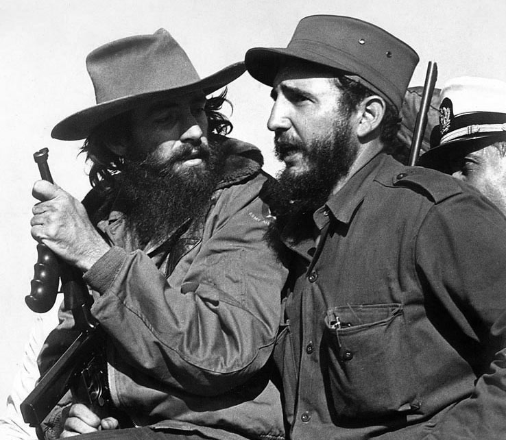 Castro (right) with fellow revolutionary Camilo Cienfuegos, 8 January 1959.