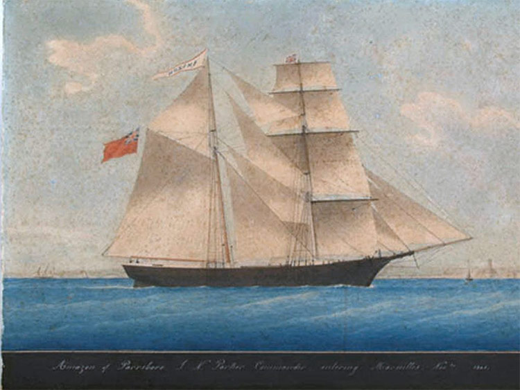 Mary Celeste in 1861, when she was known as Amazon