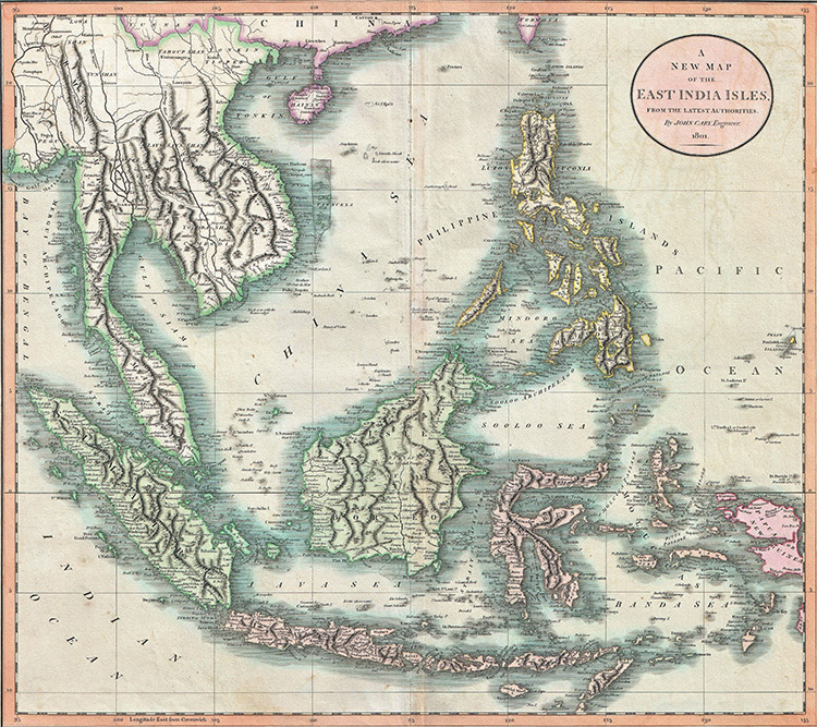 'A New Map of the East India Isles', from Cary's New Universal Atlas (1801), by John Cary