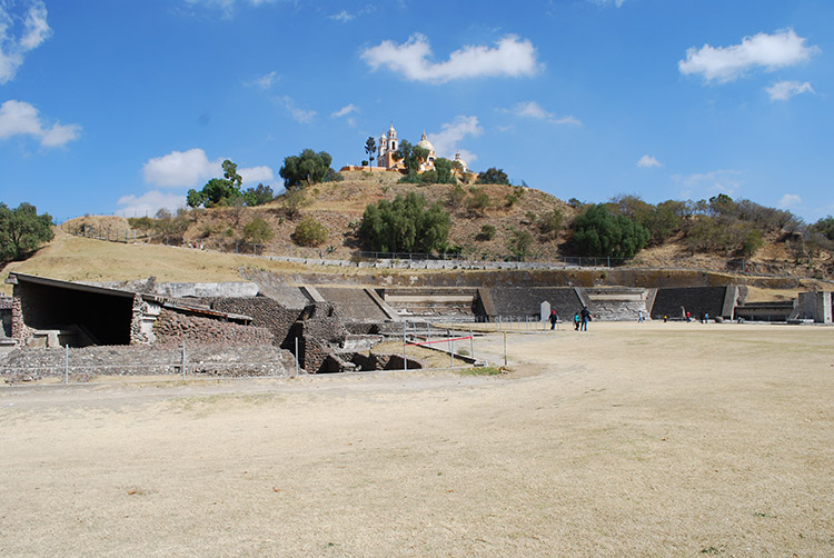 Excavated part of the pyramid