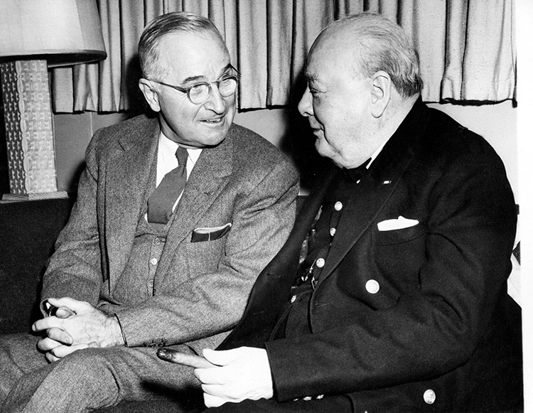 Churchill with President Truman, Washington DC, January 10th, 1952