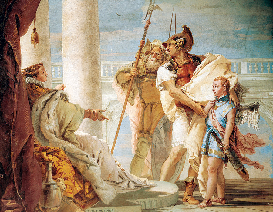 Aeneas Introducing Cupid Dressed as Ascanius to Dido, by Giambattista Tiepolo, 1757.