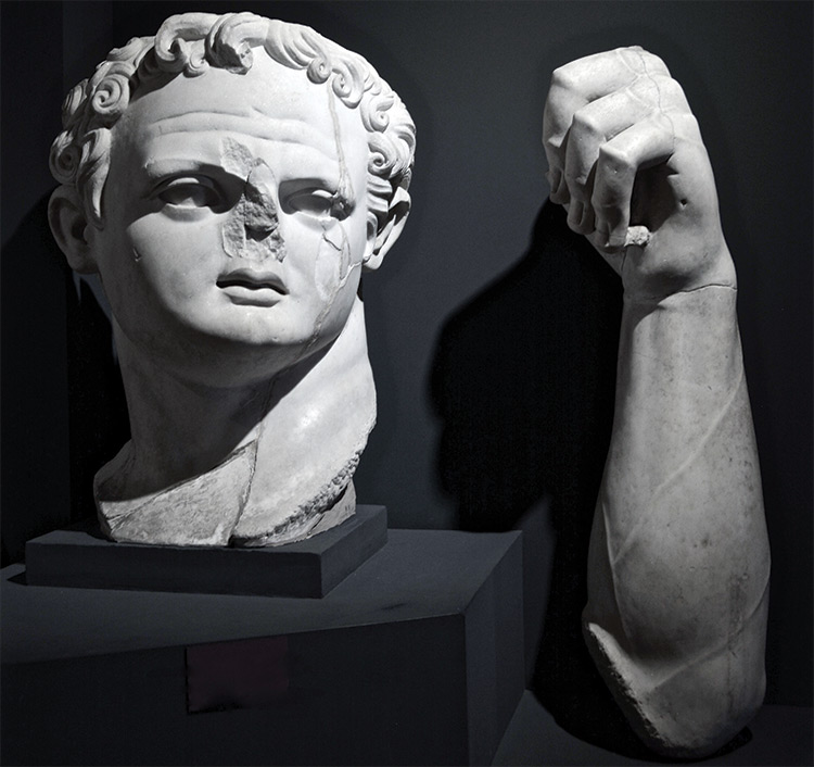 Fragments of a colossal statue of Domitian from Ephesus, first century AD, Photograph by Sophie Hay