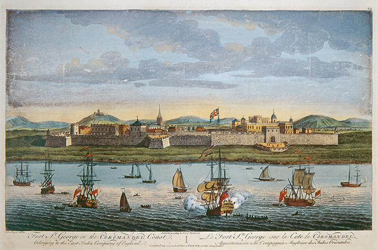 Stronghold: Fort George, India's first English fortress, by Jan Van Ryne, 18th century
