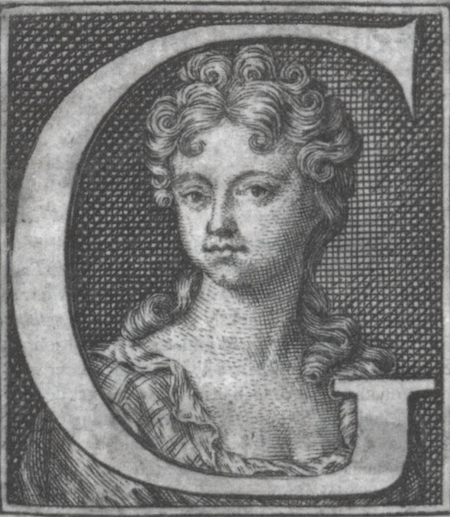 Engraving from a self-portrait, published in two of her works.