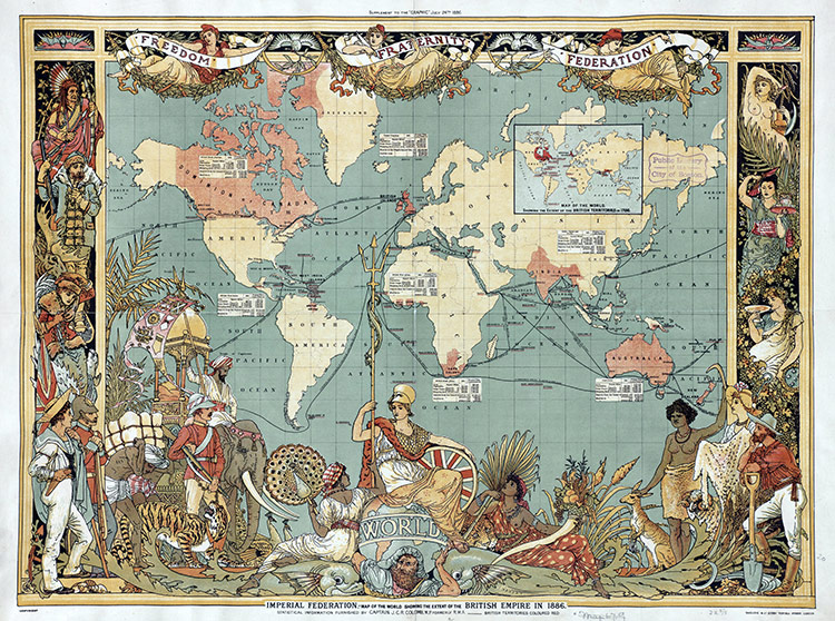 Map of the British Empire in 1886