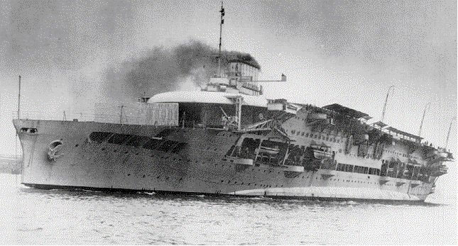HMS Glorious soon after its remodeling as an aircraft carrier