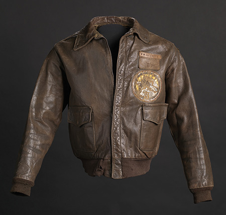 Tuskegee Airman flight jacket worn by Lt. Col. Woodrow W. Crockett, 1942. Collection of the Smithsonian NMAAHC.
