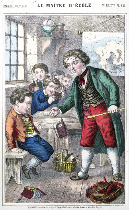 Teaching the natives: 'The School Master', a French illustration, c.1860